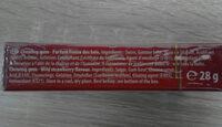 Chewing-gum parfum fraise des bois - Ingredients