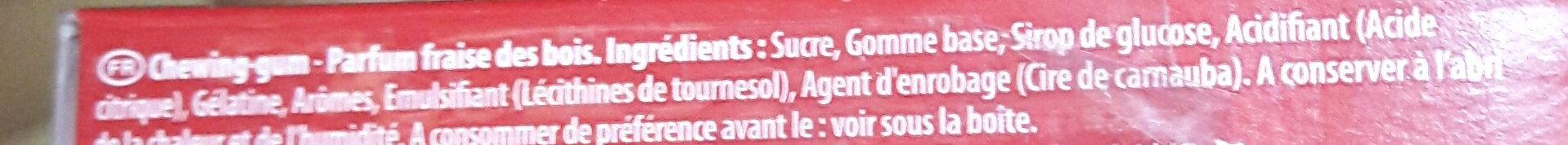 Chewing-gum parfum fraise des bois - Ingrédients - fr