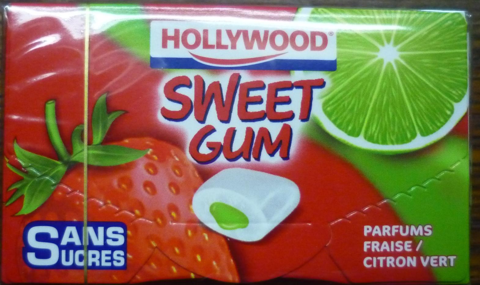 Sweet Gum Fraise-Citron Vert - Hollywood - 22 g