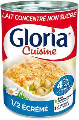 GLORIA Lait Concentré Non Sucré 1/2 Ecrémé 4% - Produit - fr