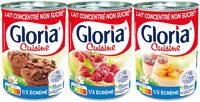 GLORIA Lait Concentré Non Sucré 1/2 Ecrémé 4% 3x410g - Produit - fr