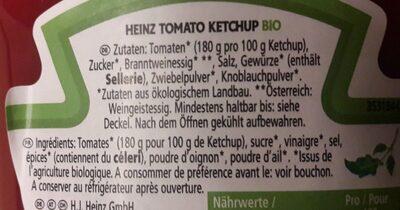 Tomato ketchup bio - Ingrediënten