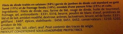 Escalope Cordon Bleu de Dinde - Ingredienti - fr