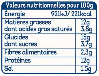 Crousty croc fromage - Valori nutrizionali - fr