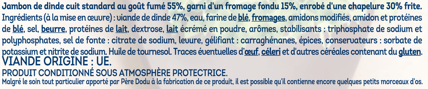 Crousty croc jambon de dinde - Ingredienti - fr