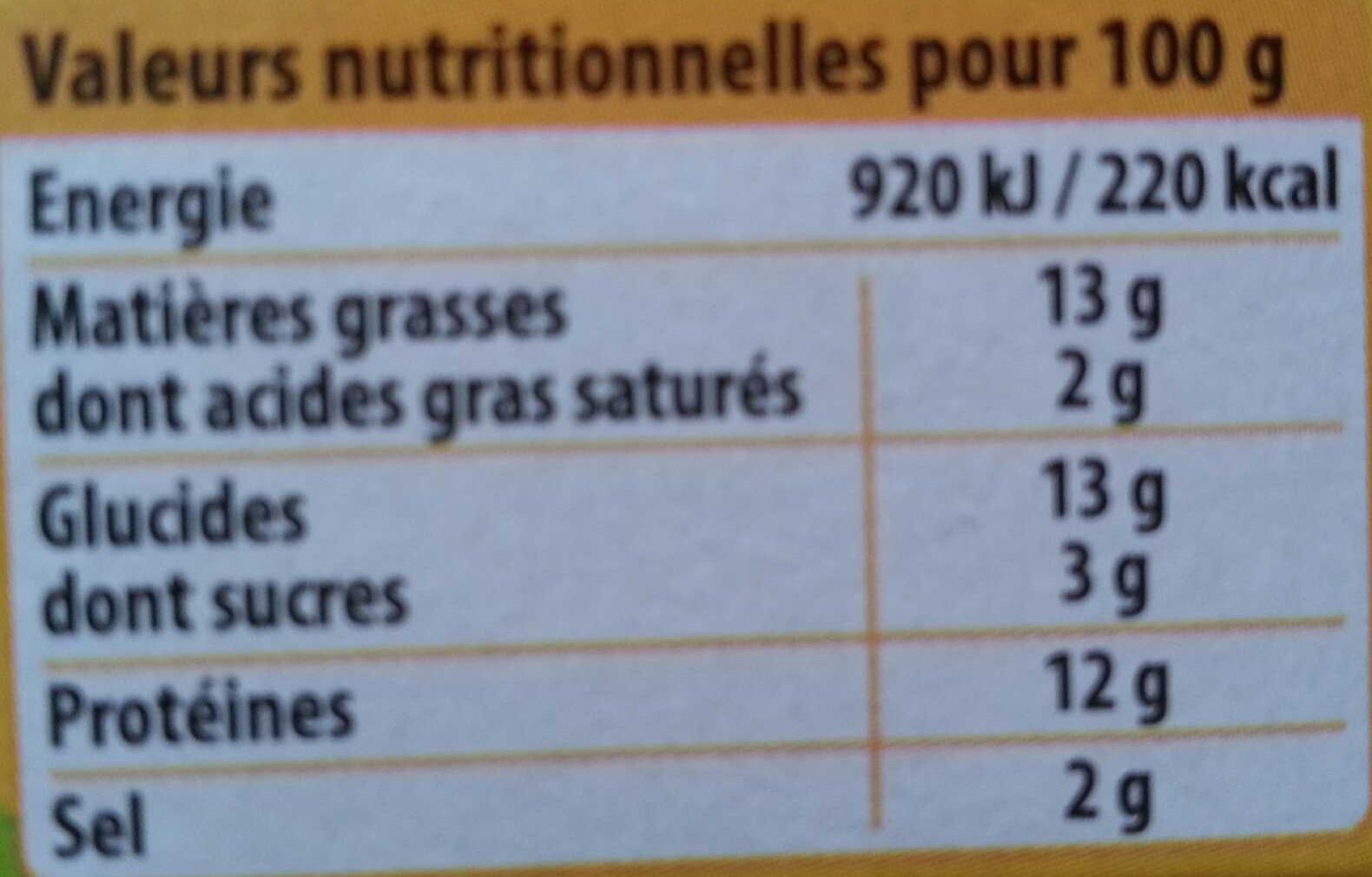 Crousty' Croc' Jambon de Dinde - Informations nutritionnelles
