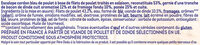 Escalope cordon bleu au bacon de dinde - Ingredienti - fr
