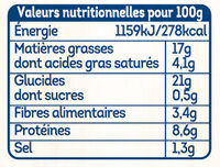 Nuggets au fromage fondant - Informations nutritionnelles - fr