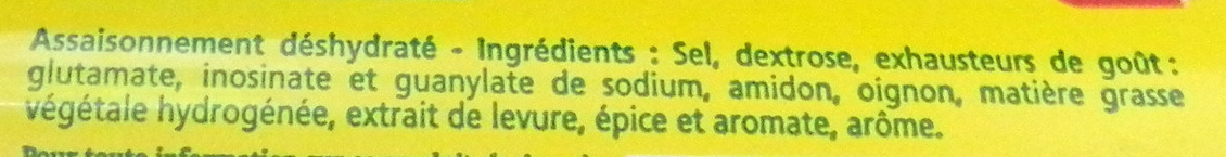 Aromat condiment - Ingredients