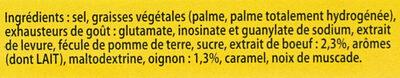 Knorr Bouillon Cube Bœuf 15 Cubes - Ingredienti - fr