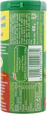 Knorr Secrets d'Arômes Assaisonnement En Poudre Plein Sud Tube 60g - Nutrition facts - fr
