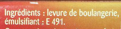 Levure De Boulanger Briochin - 5 Sachets - Ingrédients - fr