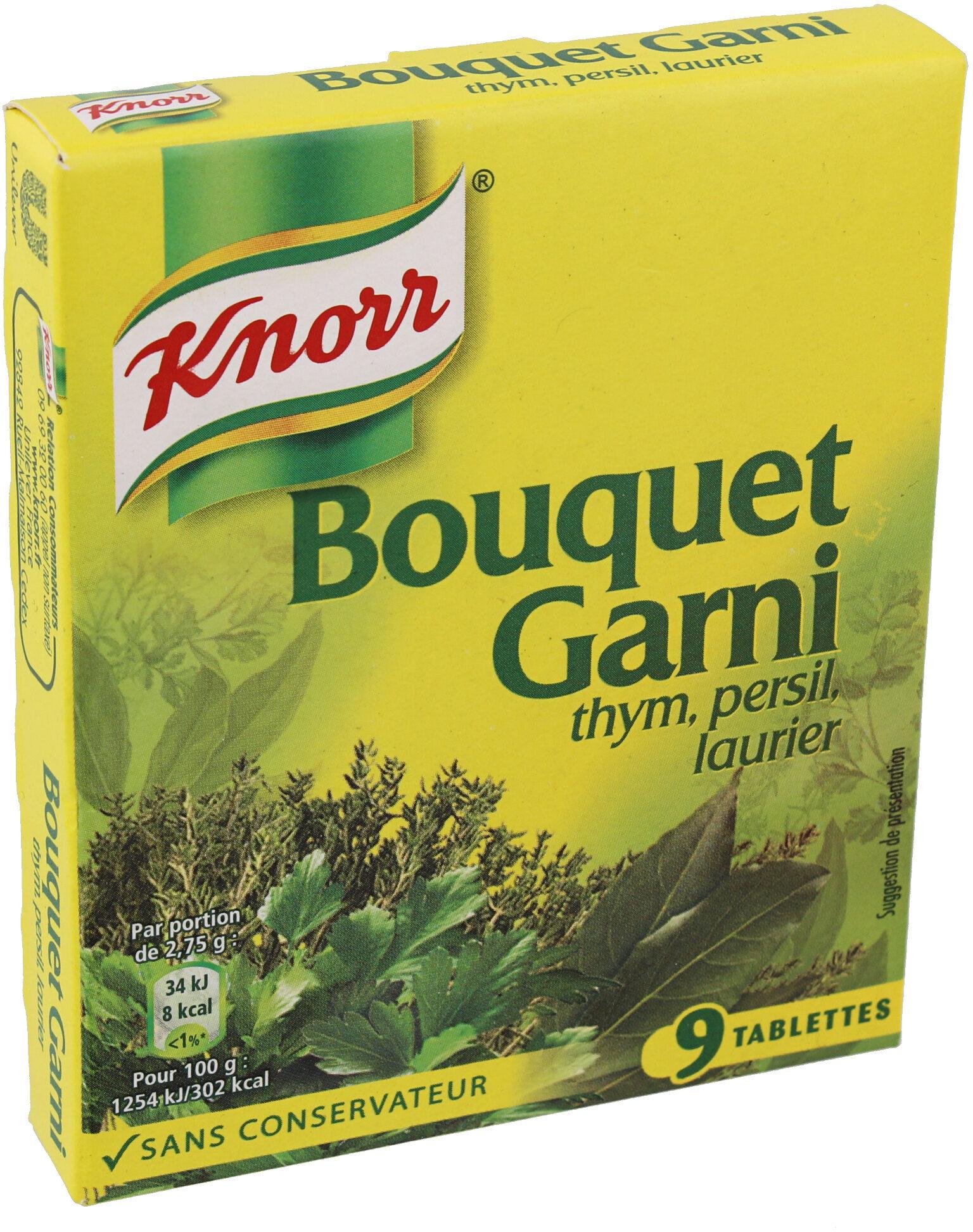 Knorr Bouillon Cube Bouquet Garni Thym Persil Laurier 9 Cubes - Product - fr