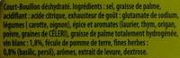 Court-Bouillon Fines herbes et vin blanc (9 Tablettes) - Ingrediënten