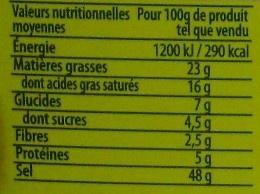 Court-Bouillon Fines herbes et vin blanc (9 Tablettes) - Voedigswaarden