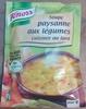 Soupe paysanne aux légumes cuisinée au lard - Product