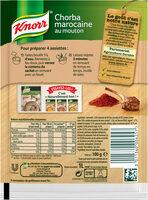 Knorr Soupe Chorba Marocaine au Mouton-Halal 100g 4 Portions - Ingredients - fr
