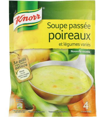 Knorr Soupe Passée Poireaux Légumes Variés 110g 4 Portions - 製品 - fr