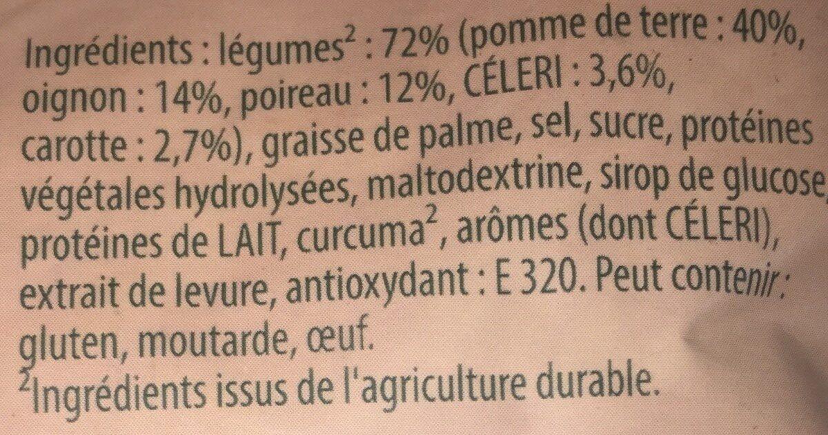 Soupe passée poireaux et légumes variés - Ingrediënten