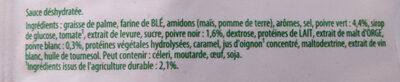 Knorr Sauce Déshydratée Poivres Vert Noir et Blanc 32g - Ingrédients - fr