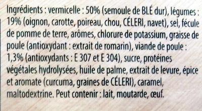 Poule au pot aux petits légumes - Ingrediënten