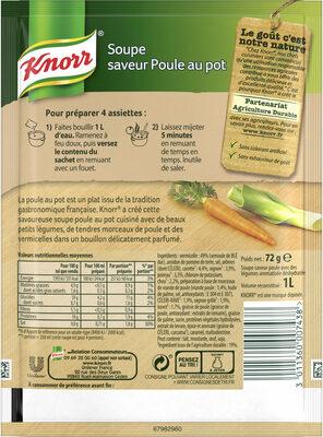 Knorr® Soupe Poule au Pot aux Petits Légumes  4 Portions 1 L - Ingredients - fr