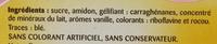 Flan Entremets saveur vanille - Inhaltsstoffe - fr