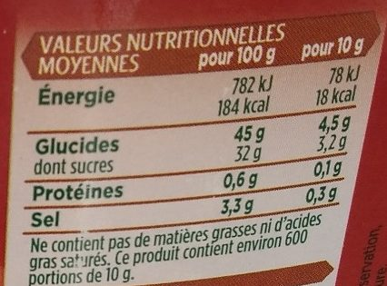 Sauce Barbecue - Nutrition facts - fr