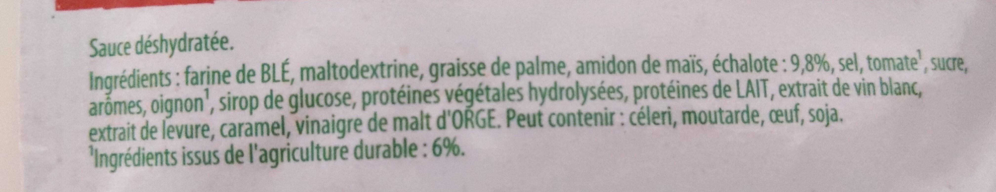 Knorr Sauce Déshydratée Echalote 33g - Ingredients - fr