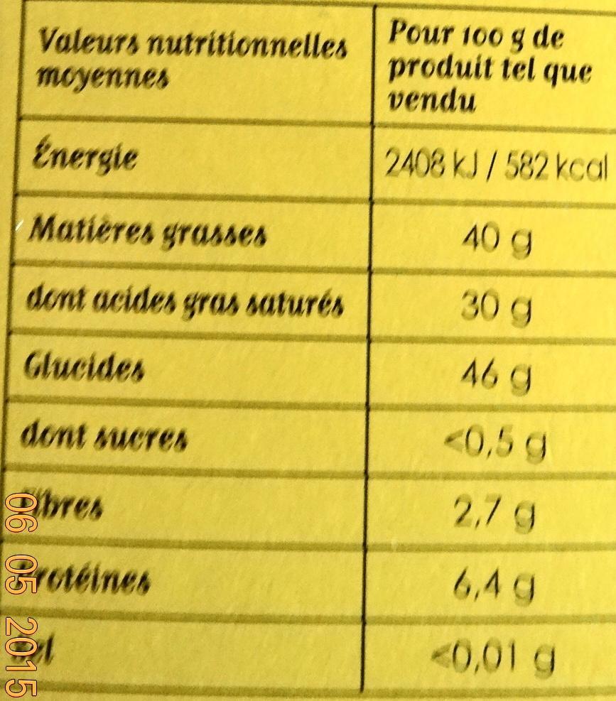 Maizena Roux pour Béchamel - Informations nutritionnelles - fr