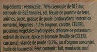 Knorr Soupe Déshydratée Poule Vermicelles - Ingrédients - fr