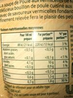 Knorr Soupe Déshydratée Poule Vermicelles - Informations nutritionnelles - fr