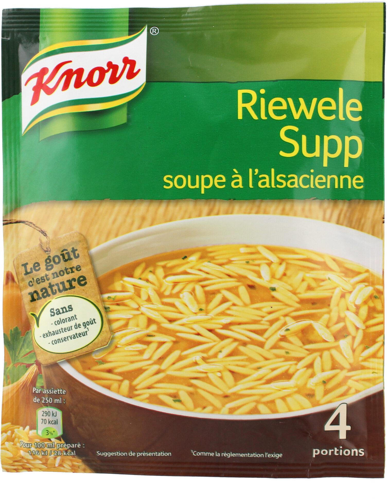 Knorr Soupe À L'Alsacienne Riewele Supp 74g 4 Portions - Product - fr