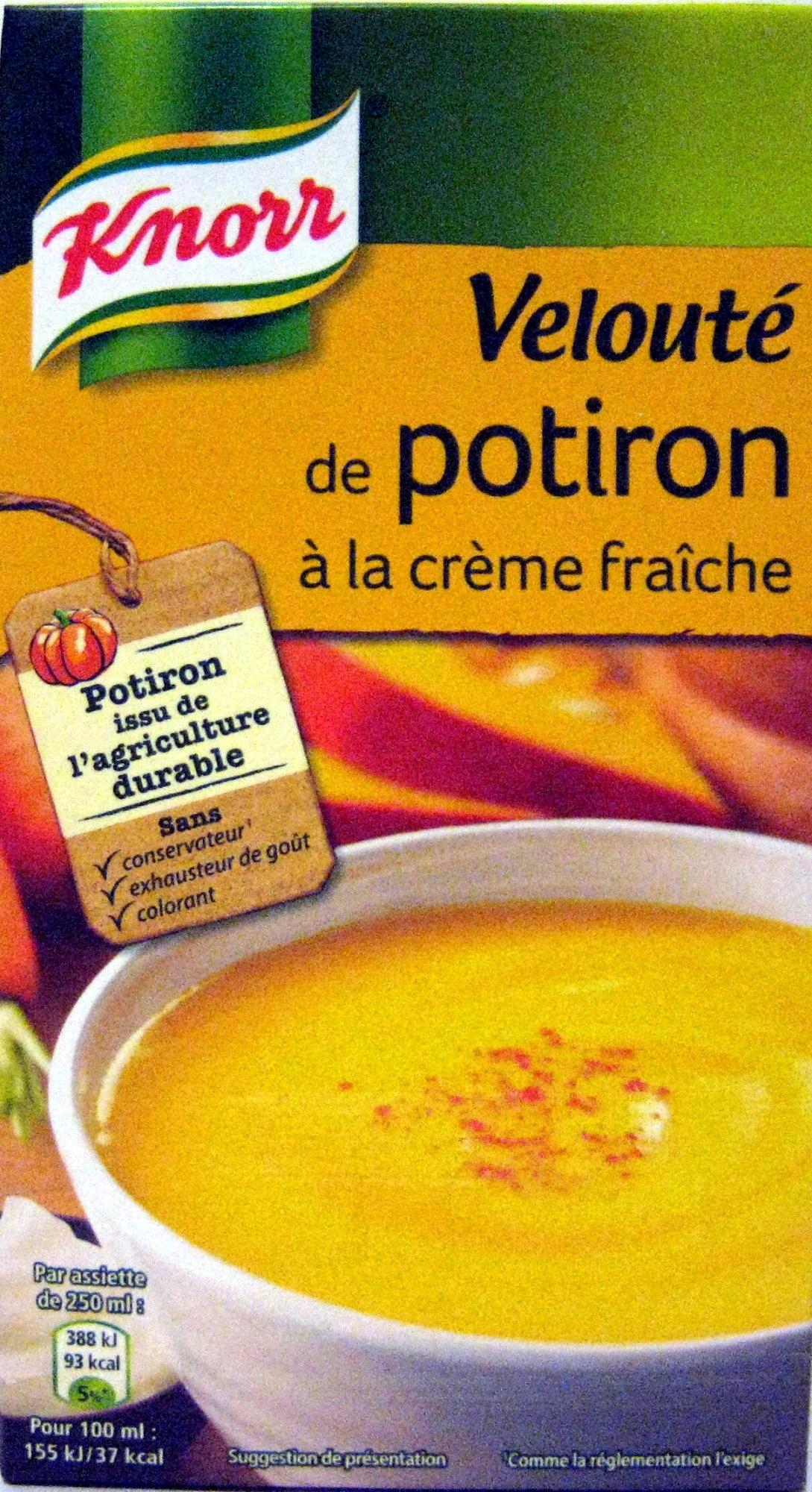 Velouté de potiron à la crème fraîche - Prodotto - fr