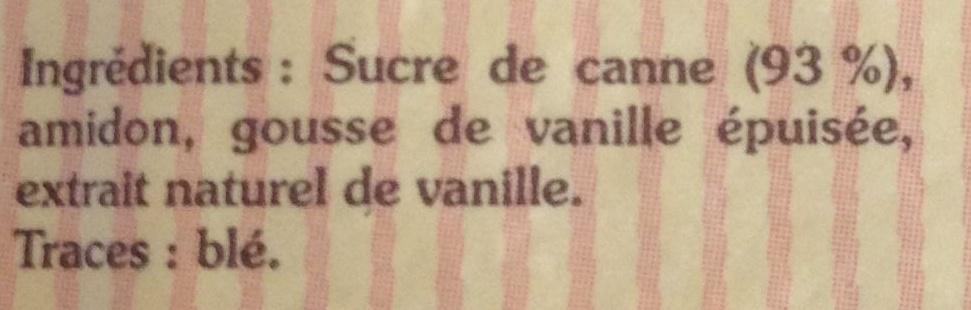 Sucre vanillé des Îles Alsa - Ingredients