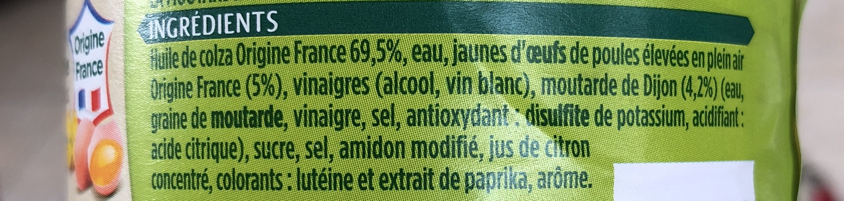 Mayonnaise - Ingrédients