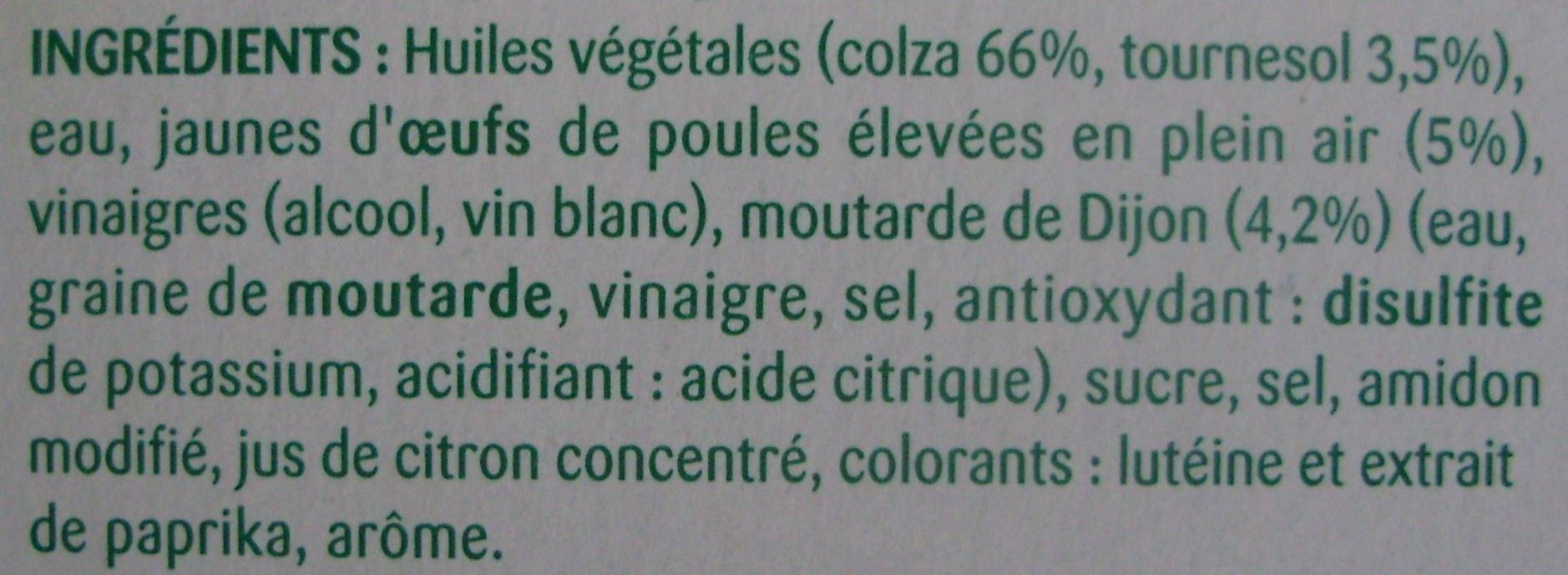 Mayonnaise ufs de poules lev es en plein air lesieur 175 g - Acide citrique leclerc ...