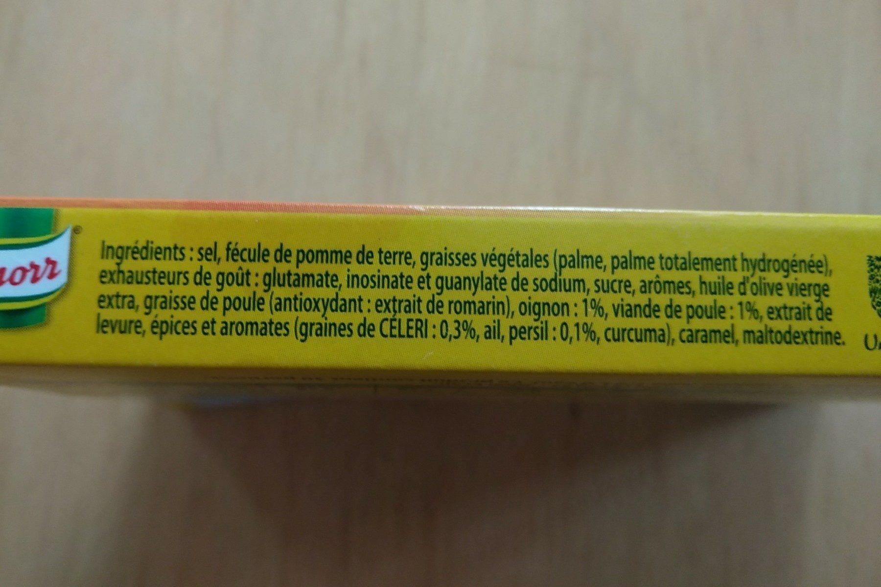 Knorr Bouillon de Poule 150g - 原材料 - fr