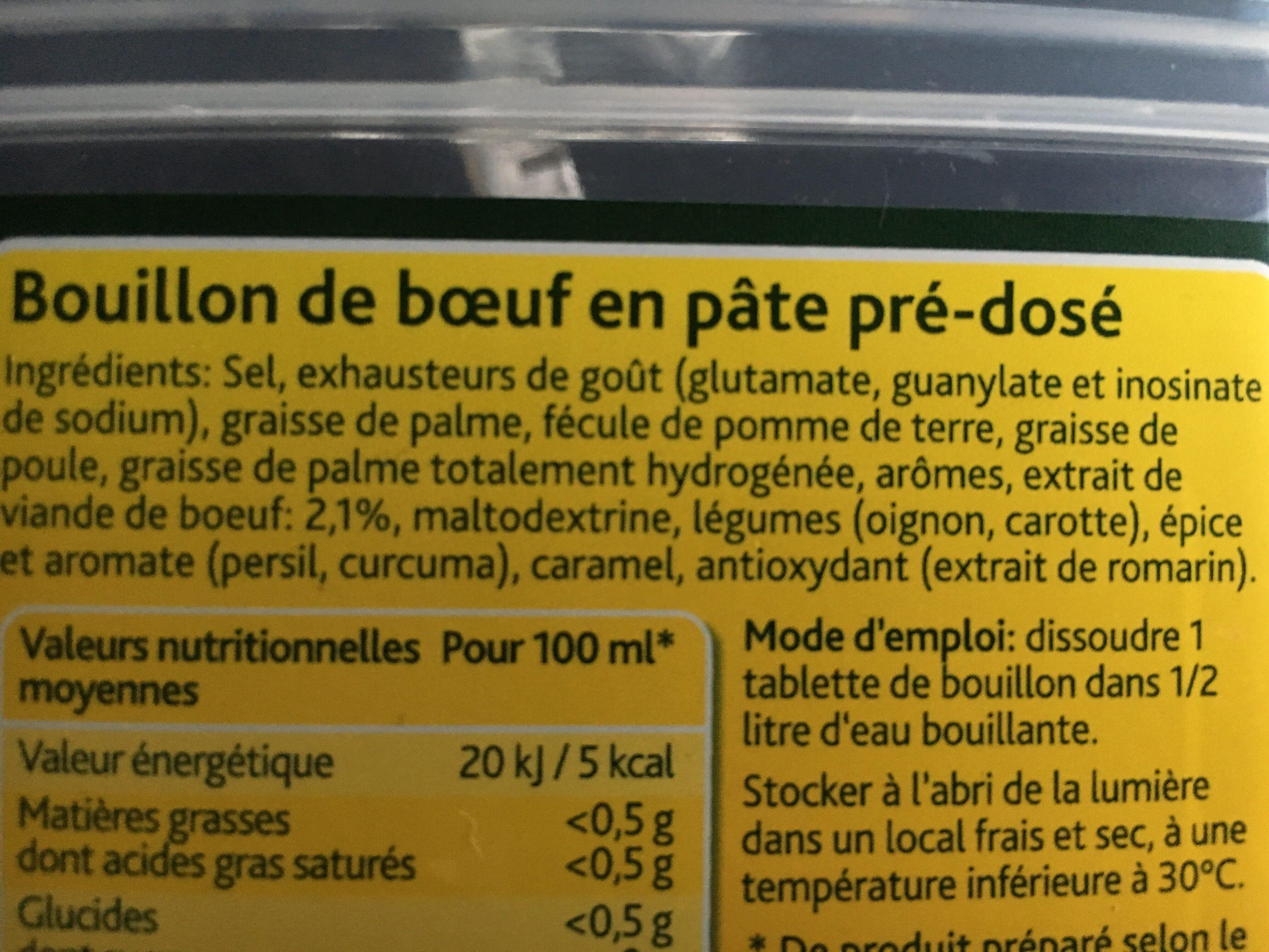 60 Tablettes Bouillon De Boeuf Knorr - Ingredients