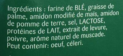 Sauce Béchamel - Ingredients