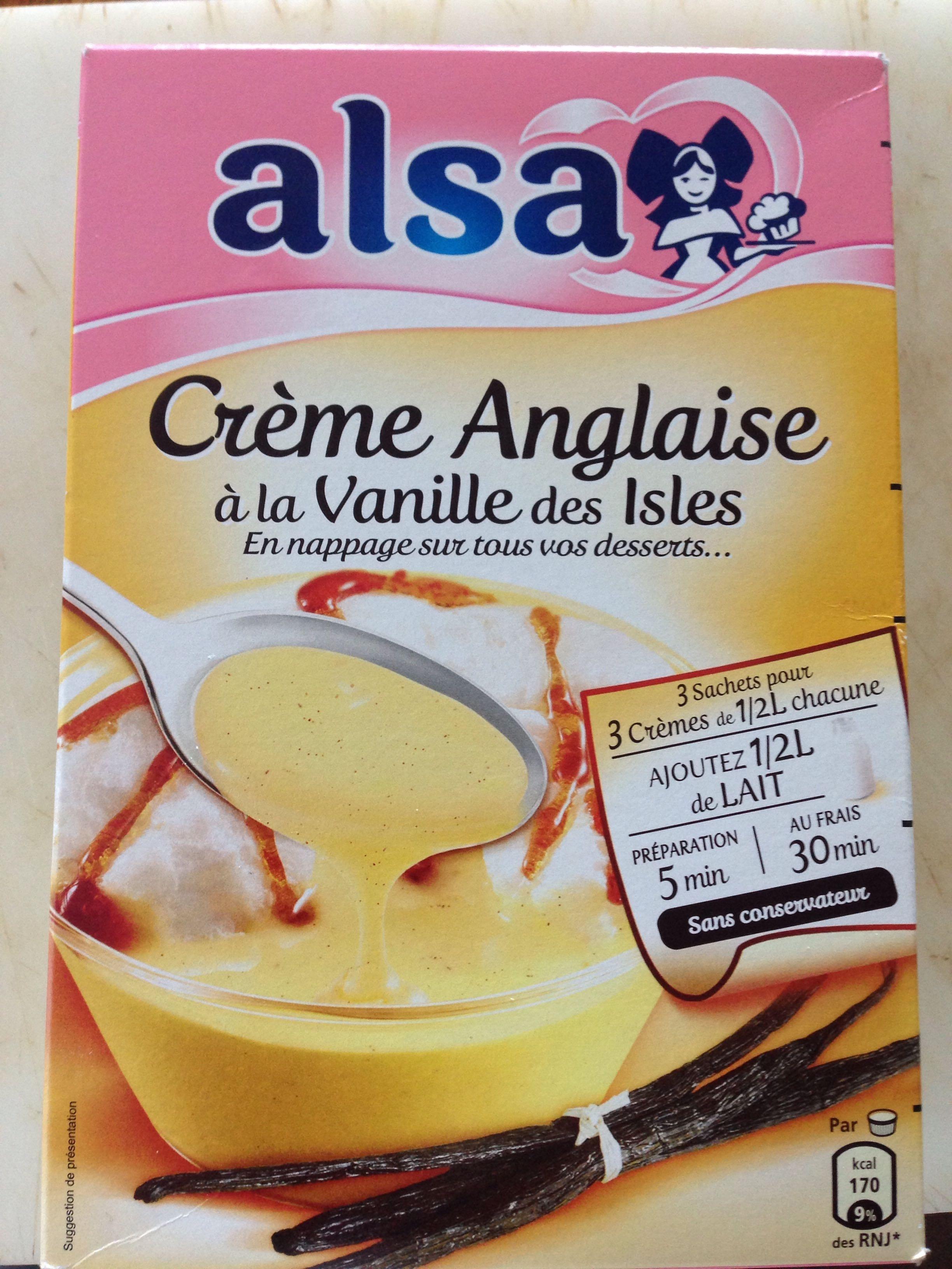 Cr me anglaise la vanille des isles alsa 900 g - Creme anglaise ...