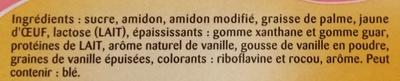 Crème Anglaise à la Vanille des Isles - Ingrédients