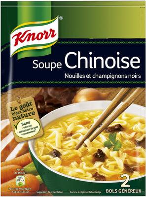 Knorr Soupe Déshydratée Chinoise Nouilles et Champignons Noirs Sachet 69g 2 Portions - Product - fr