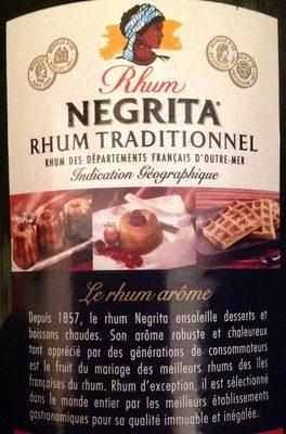 Rhum Negrita - Ingredients - fr