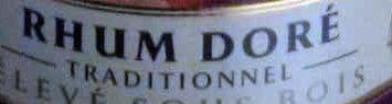 Rhum doré - Ingredients