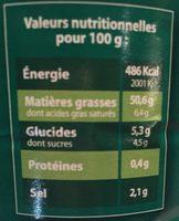Vinaigrette au Vinaigre Balsamique de Modène et Huile d'Olive (10%) - Informations nutritionnelles - fr