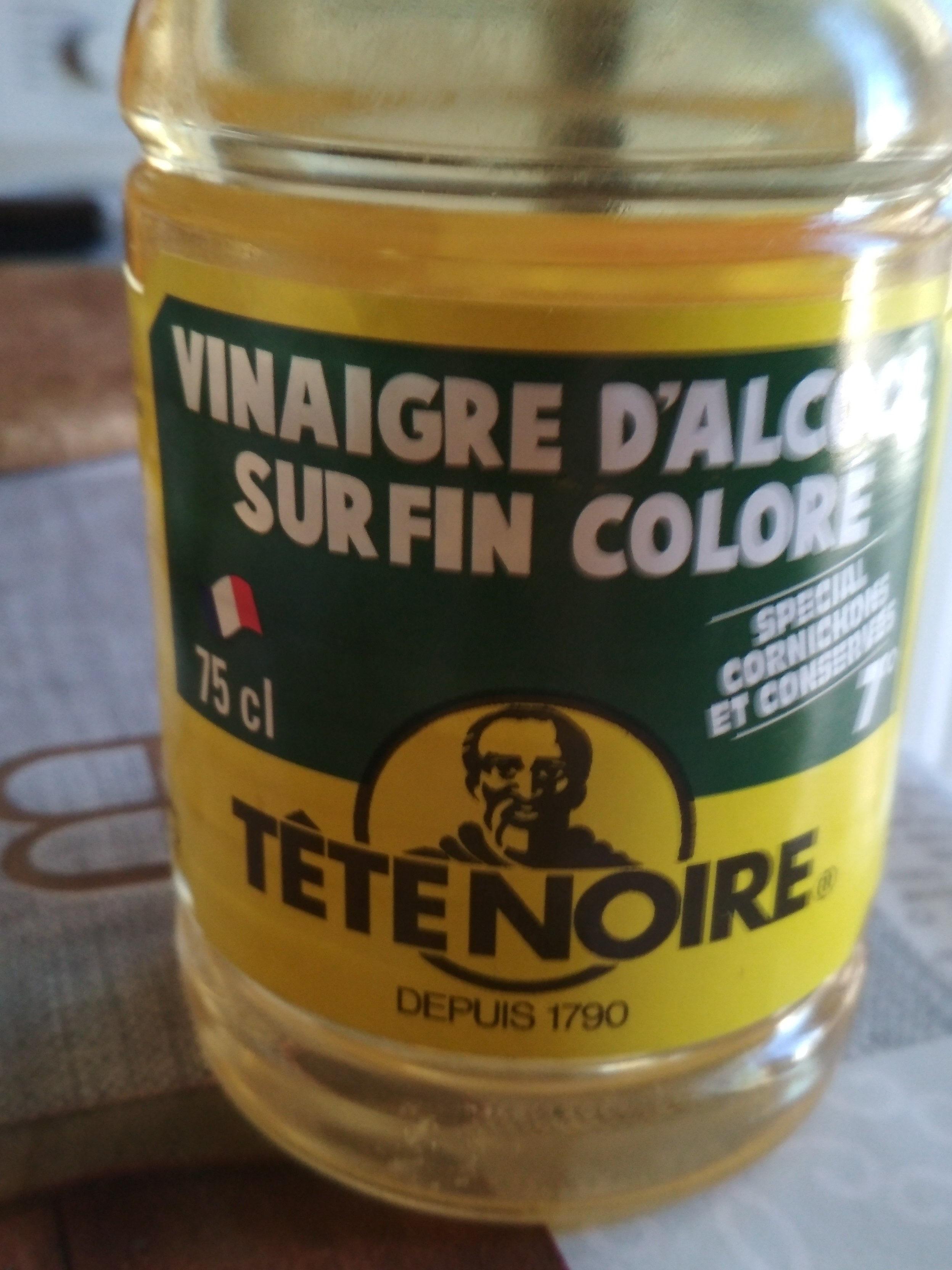 Tete Noire, Vinaigre d'alcool surfin colore 7°, la bouteille de - Produit - fr