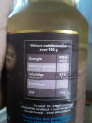 Sauce Vinaigrette à l'ail - Informations nutritionnelles - fr