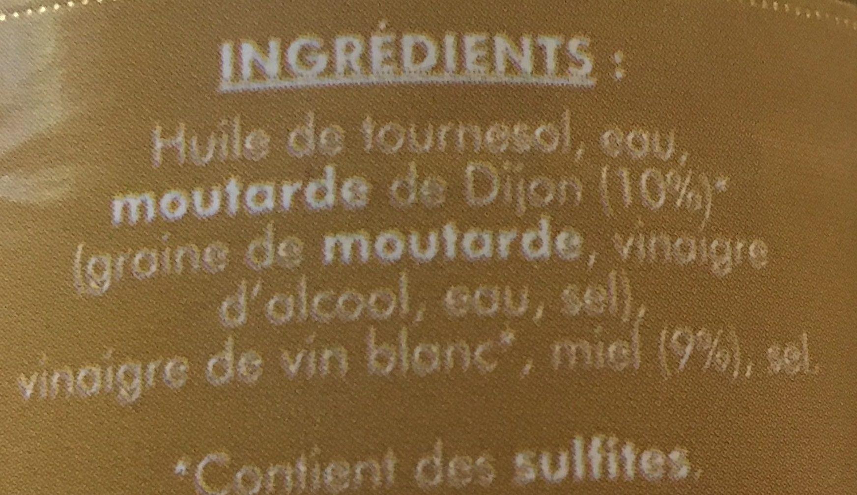 Vinaigrette Dijon Miel - Ingrédients - fr