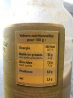 Vinaigrette Dijon Miel - Informations nutritionnelles - fr